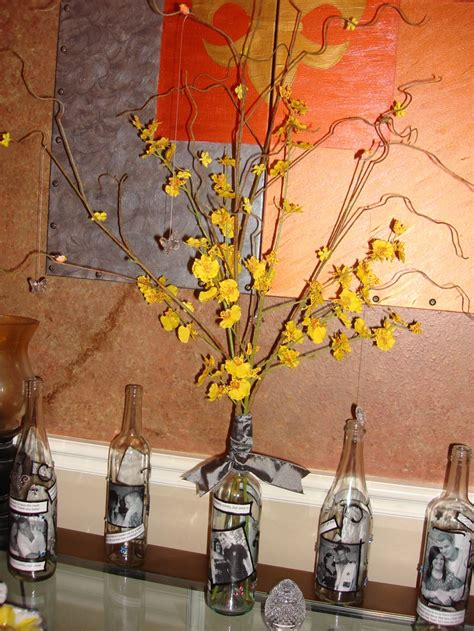 wine bottle table decorations wine bottle decorations