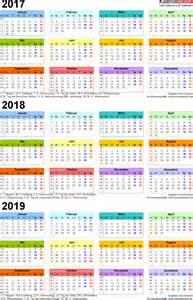Kalender 2018 Zum Ausdrucken Word Dreijahreskalender 2017 2018 2019 Als Word Vorlagen Zum