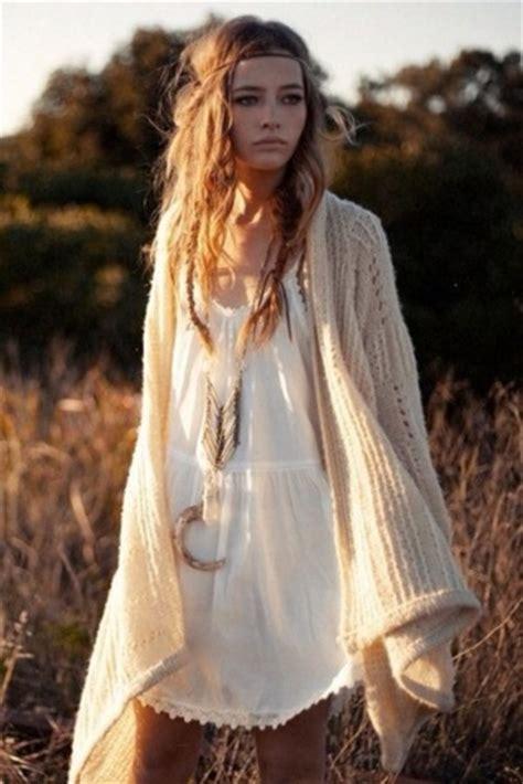 Bohemian L by Dress Boho Hippie Bohemian White Dress Cardigan