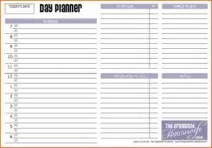 Planner Templates Day Planner Templates Event Planning Template
