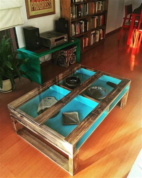 Diy Glass Top Coffee Table Pallet Coffee Table With Glass Top 30 Diy Pallet Ideas For Your Home 101 Pallet Ideas