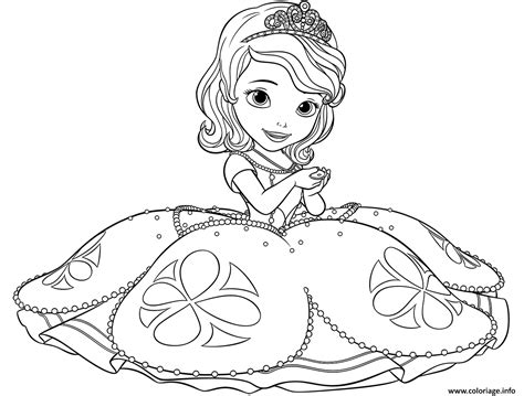 happy birthday sofia coloring pages coloriage princesse sofia dessin