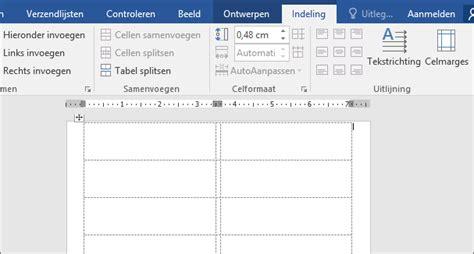 Etiketten Uit Excel In Word by Etiketten Maken En Afdrukken Met Afdruk Samenvoegen Word