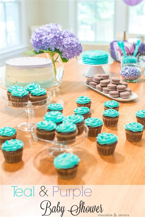 Purple And Teal Baby Shower Decorations by Teal Purple Baby Shower Chocolate Carrots