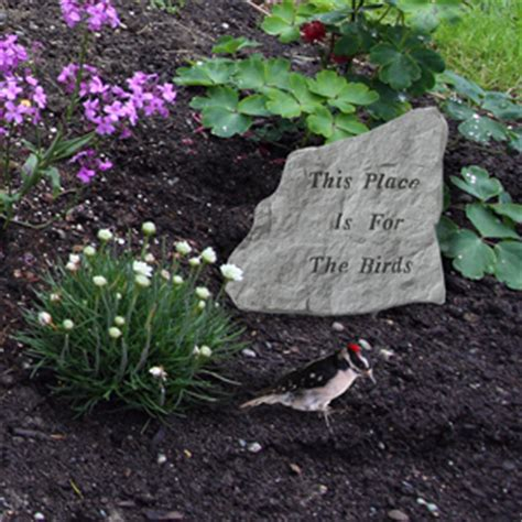 garden stone pet memorial this place is for the birds