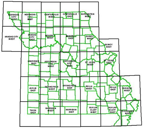 missouri map with county lines missouri department of resources