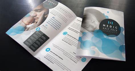 two fold brochure template free medic bi fold brochure template brochure templates pixeden