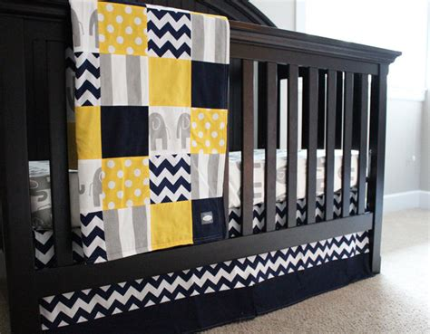 Black And Yellow Crib Bedding Baby Crib Bedding Set Yellow Navy Blue Grey Elephant