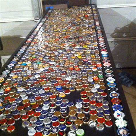 beer bottle cap bar top beer bottle caps for our garage bar crafty creations