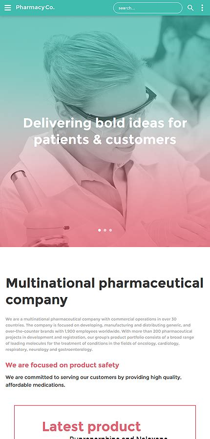 bootstrap templates for pharmacy medical type website templates template 58933