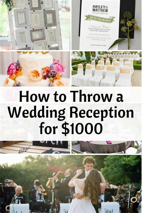 How to Throw a Wedding Reception for $1000   Money Saving