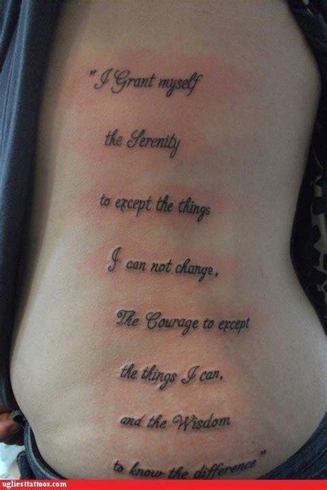 english tattoo fail wow i m guessing this person failed english as well as