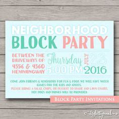 block invitation template free how to throw a block printable invitation template