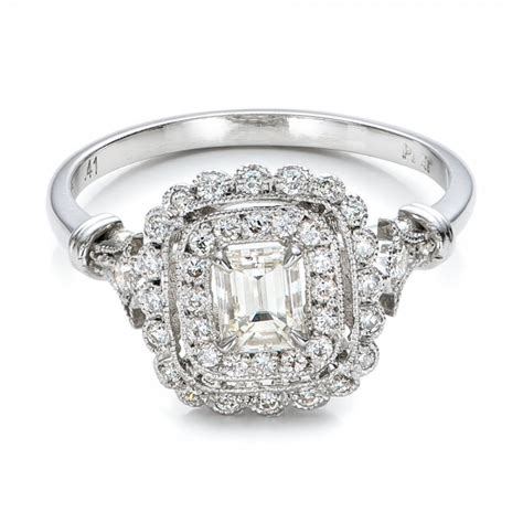 Estate Engagement Rings by Estate Halo Engagement Ring 100902