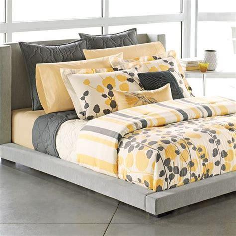 yellow gray bedding apt 9 grey yellow white modern ivy leaves stripe king