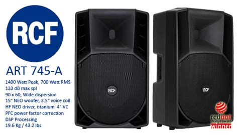 speaker aktif rcf 745 a paket sound system profesional indonesia