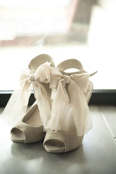 Bridal Shoes With Bow by Tuesday Shoesday Chiffon Bows Um Yes A Realistic Wedding