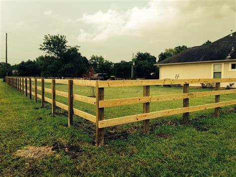 rail fence   treated post   treated rails