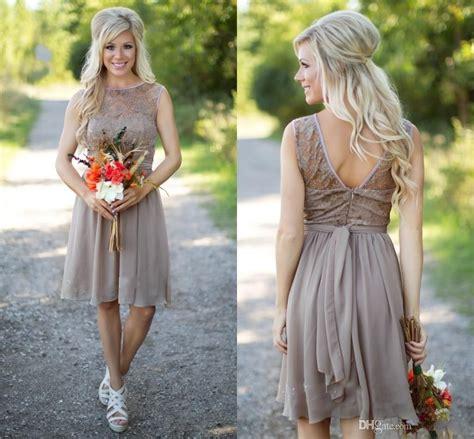 country bridesmaid dresses   short  weddings