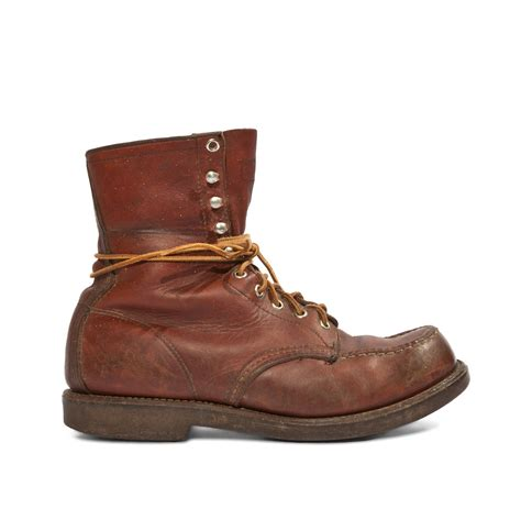 wings mens boots 9 e s vintage wing boots moc toe hiker factory by