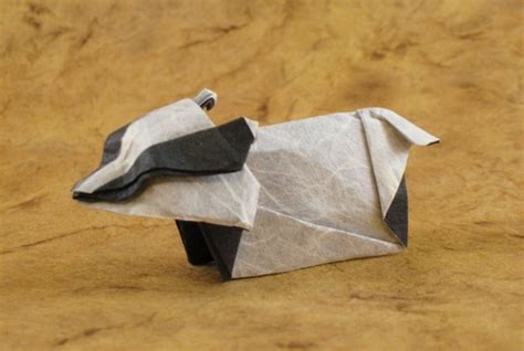 Origami Badger - origami badgers gilad s origami page