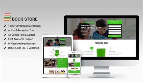 design online book book store landing page design template to increase your