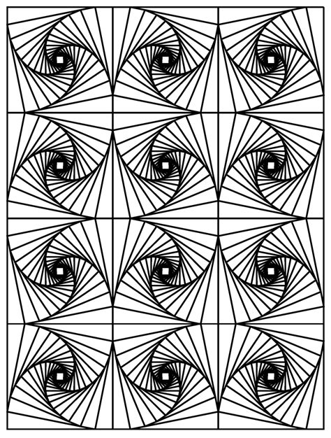 optical illusion coloring pages for adults free coloring pages printables a and a glue gun