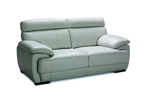 gray leather loveseat bravo sofa loveseat in grey leather w options