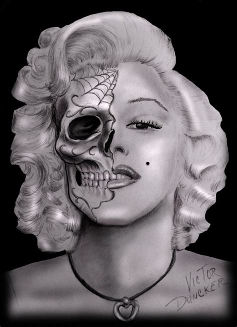 marilyn monroe skull tattoo designs 10 marilyn skull posters