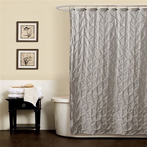 pintuck curtains noelle pintuck shower curtains in grey bed bath beyond