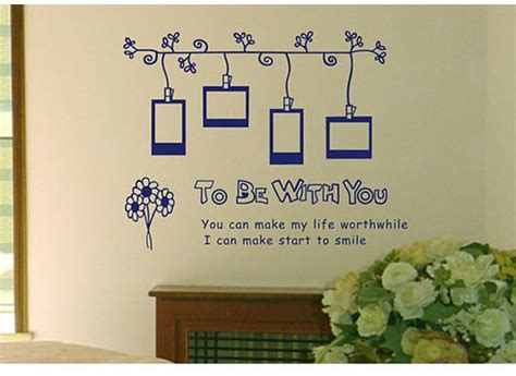 wall stickers frames to be with you photo frame wall sticker wallstickerdeal