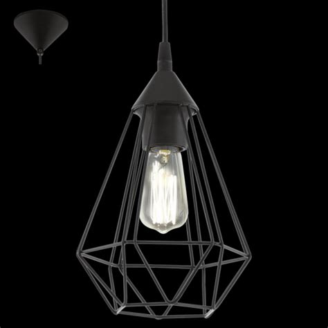 eglo pendant light eglo 94187 tarbes 1 light ceiling pendant black
