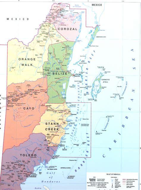 map of mexico and belize map of mexico and belize travel maps and major tourist
