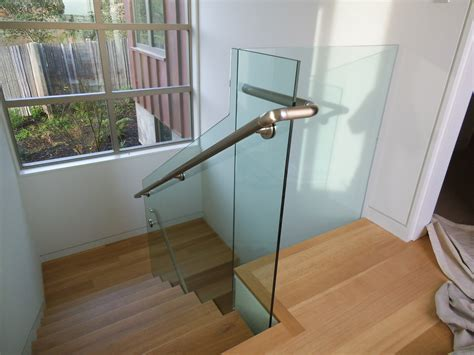 glass banister for stairs elegant glass stair railing latest door stair design