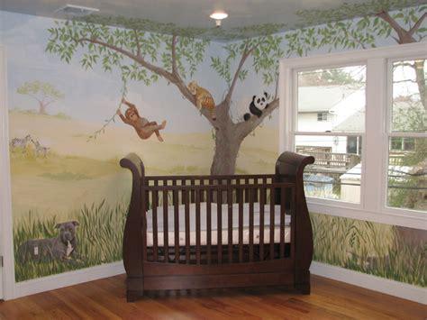safari rug for nursery safari nursery mural traditional new york by terra designs inc