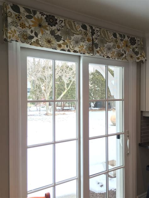 Decorative Patio Door Curtains - patio door window treatment using a simple decorative box