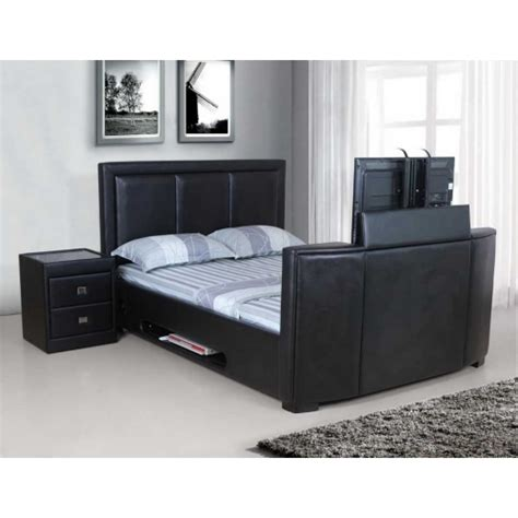 kingsize tv bed frame galactic pu leather tv bed frame king size 6