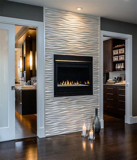 tiling around a fireplace the wavy tile around the fireplace where did you get it