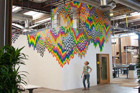 Ceramic Wall Mural facebook headquarter s interior art wall modlar com