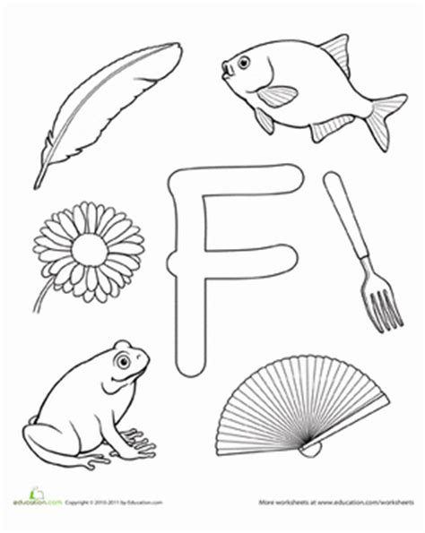 preschool coloring pages letter f f is for worksheet education com