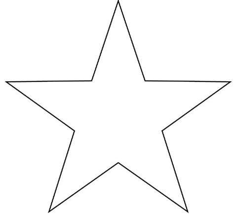 small star templates clipart best