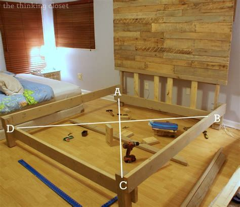 diy king size bed frame how to build a custom king size bed frame