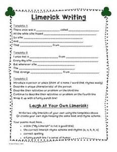 limerick template printable how to write a limerick writing prompts free