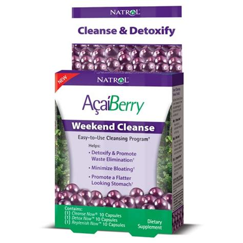 Acai Berry Detox Results by Natrol Acai Berry Weekend Cleanse Capsules 30 Ct Jet
