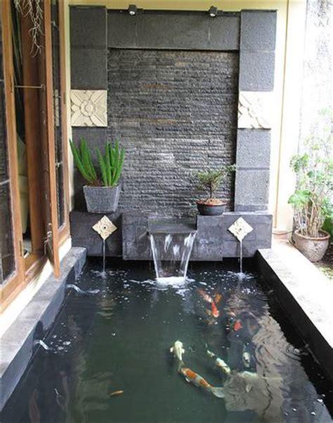 desain air mancur depan rumah 14 model desain air mancur dingding batu alam rumah impian
