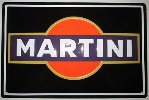 martini and logo martini logo blechschild cocktail ebay