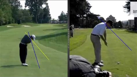 right shoulder in golf swing shoulder plane golf swing characteristics by craig hanson