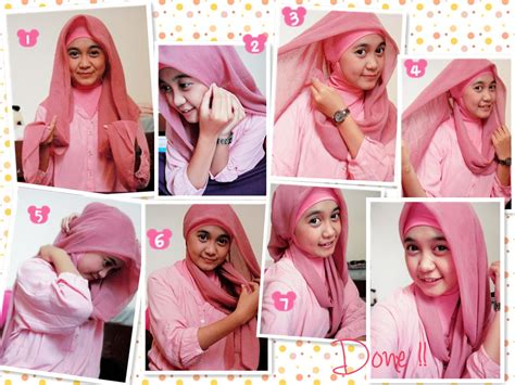 Model Jilbab Segi Empat Pin Tutorial Turban For Easy On