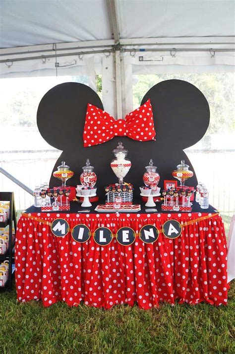 love themed events minnie mouse themed birthday party table love love