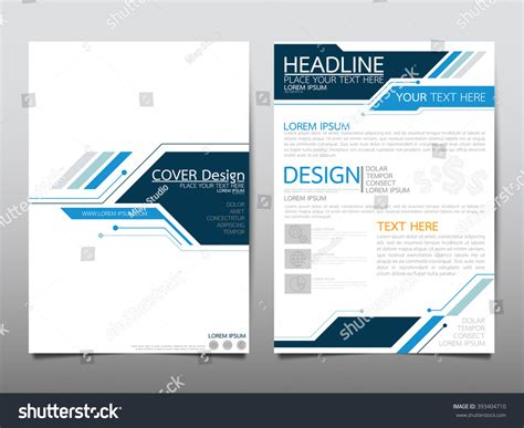 technology brochure templates annual report brochure flyer design template vector